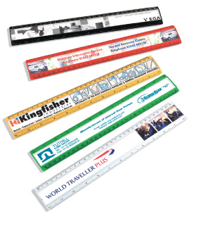 large plastic ruler with printed paper insert